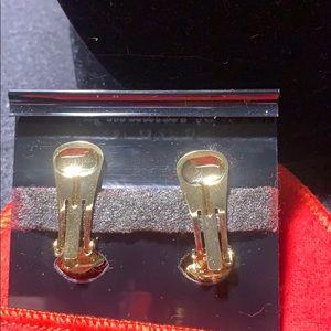 Kenneth Jay Lane Jewelry - Vintage K.J.L. Gold Tone Earrings